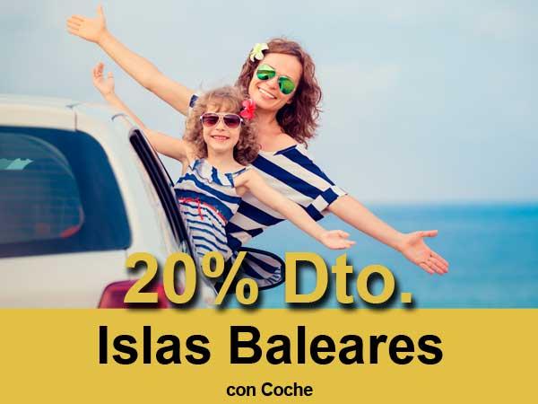 Oferta para las rutas de Balearia Ibiza, Formentera, Mallorca y Menorca de un 20 por ciento de descuento con coche