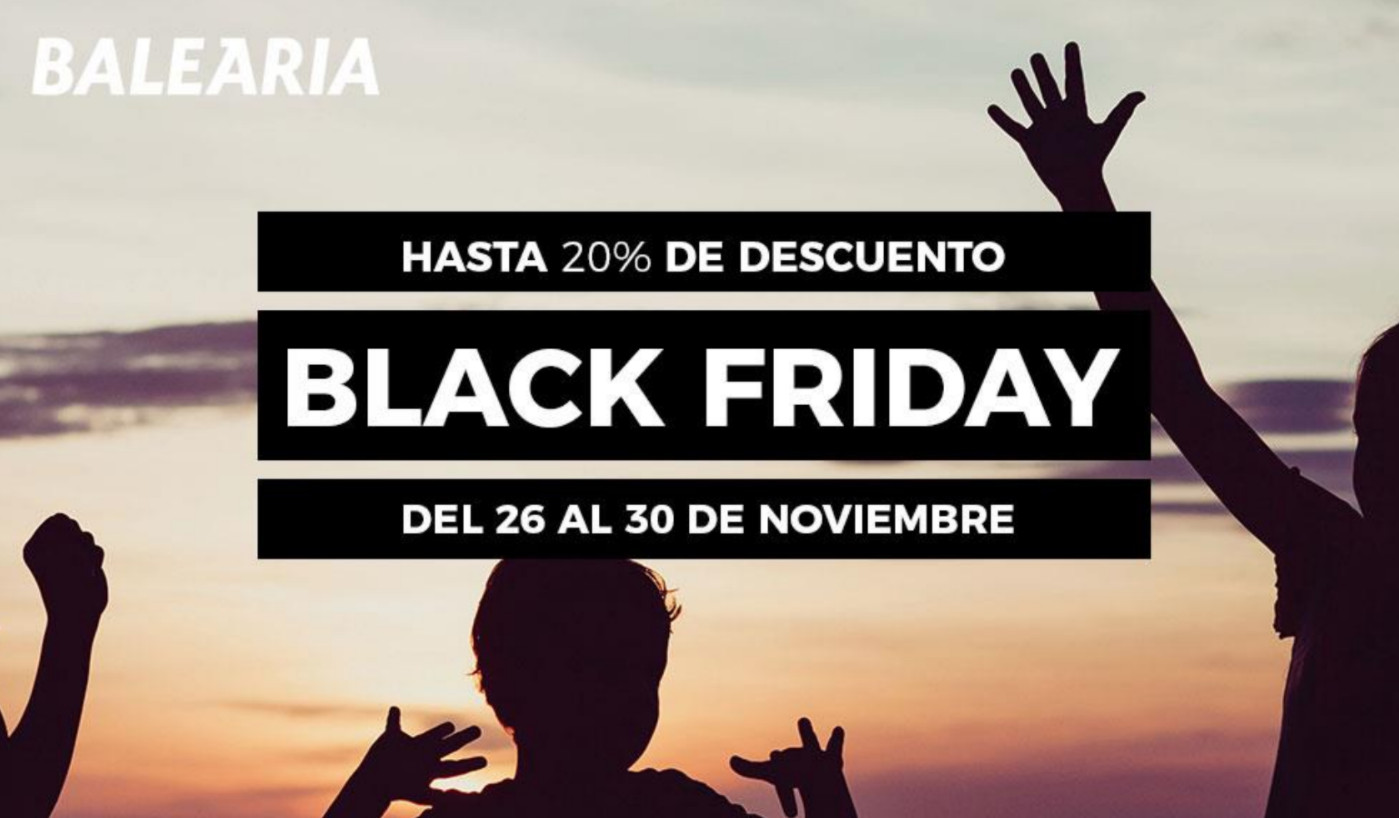 -20% Dto de oferta Black Friday en tu ferry a Baleares