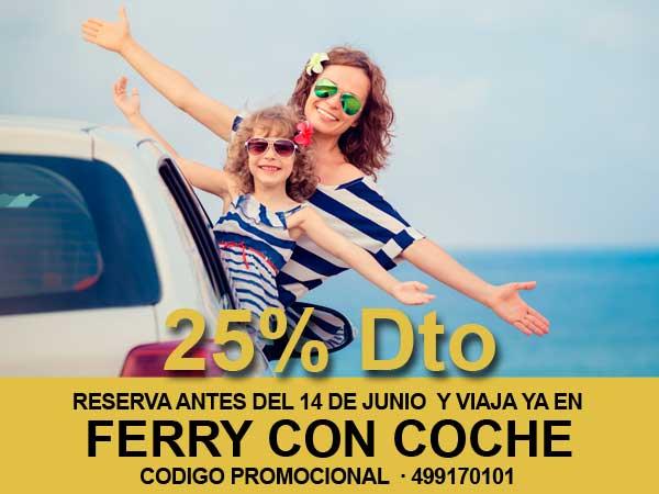 Ahorra un 25 % en el precio de tu coche si vas a Ibiza o Formentera en barco este Verano 2020